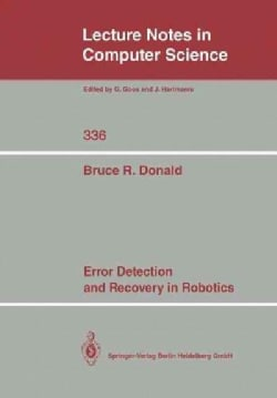 Error Detection and Recovery in Robotics (Paperback)