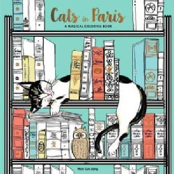 Cats in Paris: A Magical Coloring Book (Paperback)