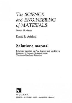 The Science and Engineering of Materials (Paperback)