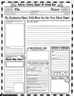 Instant Personal Poster Sets: Read All About Me! : 30 Big, Write-And-Read Learning Posters Ready for Kids to Personalize & Di...