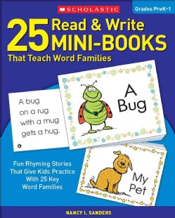 25 Read and Write Mini-Books That Teach Word Families (Paperback)