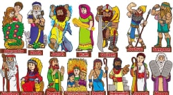 Old Testament Characters! Bulletin Board (Hardcover)