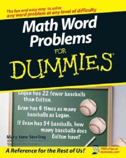 Math Word Problems for Dummies (Paperback)