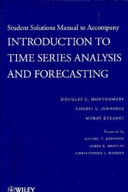 Introduction to Time Series Analysis and Forecasting (Paperback)