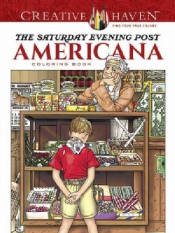 The Saturday Evening Post Americana Coloring Book (Paperback)