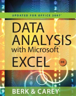 Data Analysis With Microsoft Excel 2007 (PACKAGE)