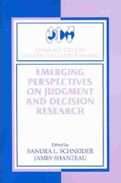 Emerging Perspectives on Judgment and Decision Research (Paperback)