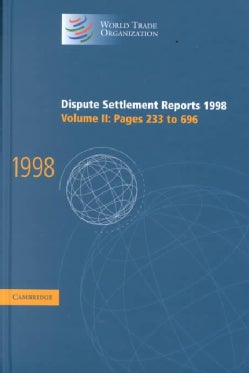 Dispute Settlement Reports 1998 (Hardcover)