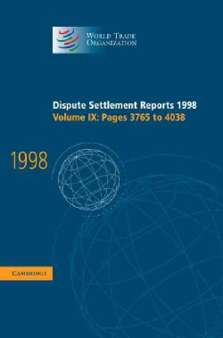 Dispute Settlement Reports 1998: Pages 3765-4042 (Hardcover)