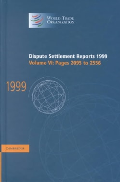 Dispute Settlement Reports 1999: Pages 2095-2556 (Hardcover)