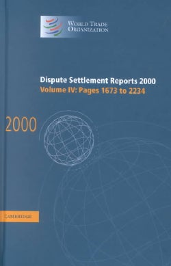 Dispute Settlement Reports 2000: Pages 1673-2234 (Hardcover)