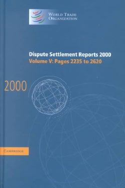 Dispute Settlement Reports 2000: Pages 2235-2620 (Hardcover)