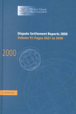 Dispute Settlement Reports 2000: Pages 2621-3040 (Hardcover)