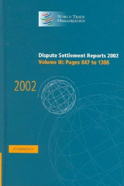 Dispute Settlement Reports 2002 (Hardcover)