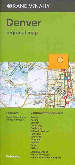 Rand McNally Denver Colorado Regional Map (Sheet map, folded)
