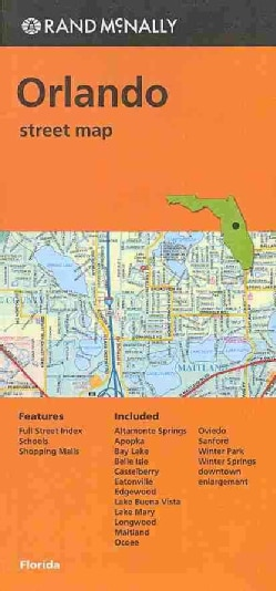 Rand McNally Orlando, Florida Steet Map (Sheet map, folded)