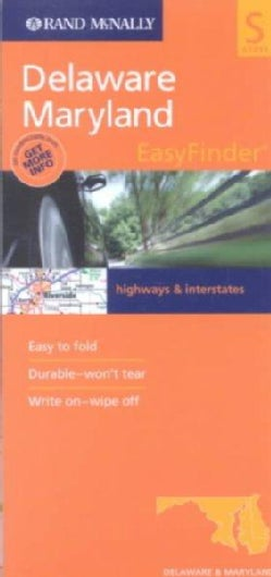 Rand McNally Easyfinder Delaware/Maryland: Highways & Interstates (Sheet map)