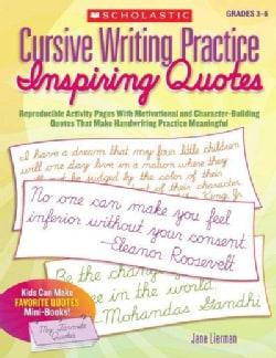 Cursive Writing Practice: Inspiring Quotes (Paperback)