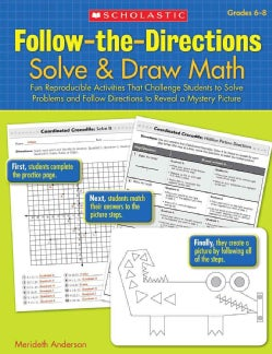 Follow-the-Directions: Solve & Draw Math Grades 6-8 (Paperback)