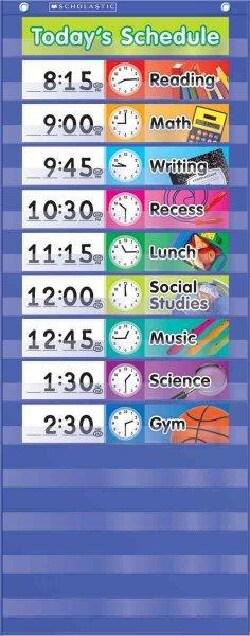 Daily Schedule Pocket Chart (Wallchart)