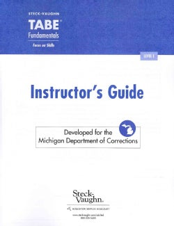 Tabe Fundamentals, Level E: Developed for the Michigan Department of Corrections (Paperback)