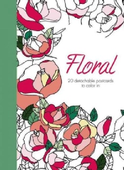 Floral: 20 Detachable Postcards to Color in (Postcard book or pack)