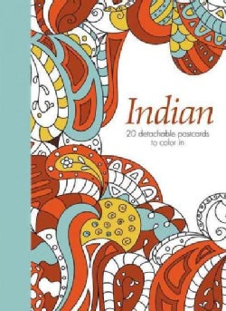 Indian: 20 Detachable Postcards to Color in (Postcard book or pack)
