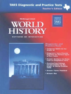 World History: Patterns of Interaction, TAKS Diagnostic and Practice Tests (Paperback)