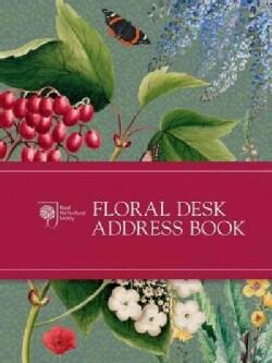 Royal Horticultural Society Floral Desk Address Book (Hardcover)