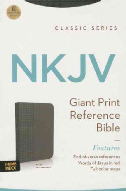 Holy Bible: New King James Version, Black, Leathersoft, Giant Print, Reference Bible (Paperback)