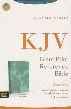The Holy Bible: King James Version, Turquoise Leathersoft, Giant Print Reference Bible (Paperback)