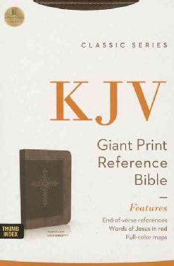 The Holy Bible: King James Version, Chocolate Leathersoft, Giant Print Reference Bible (Paperback)