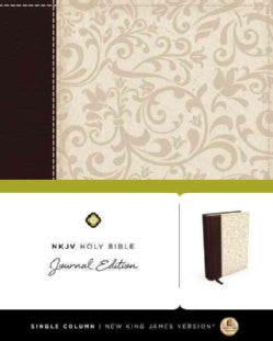 Holy Bible: New King James Version, Brown / Cream Linen, Journal Edition (Paperback)