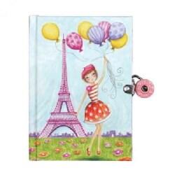 J 'adore Paris! Locked Diary (Diary)