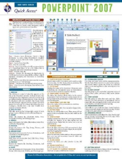 Power Point 2007: Quick Access Reference Chart (Wallchart)
