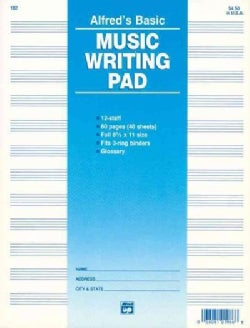 12 Staff Music Writing Pad (Paperback)