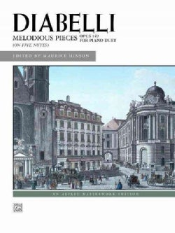 Diabelli: Melodious Pieces (On Five Note): Opus 149 for Piano Duet (Paperback)