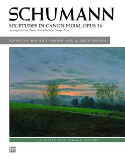Six Etudes in Canon Form, Opus 56: Arranged for One Piano, Four Hands (Paperback)