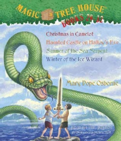 Magic Tree House Books 29-32: Christmas in Camelot/Haunted Castle on Hallow's Eve/Summer of the Sea Serpent/Winter... (CD-Audio)