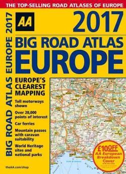 Big Road Atlas Europe 2017 (Paperback)