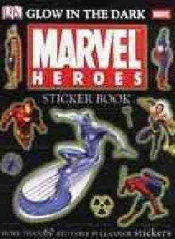 Marvel Heroes Glow In The Dark Sticker Book (Paperback)