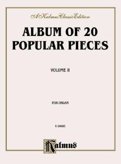Album of Twenty Popular Pieces for Organ (Paperback)