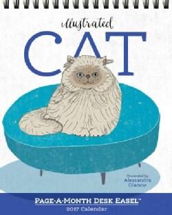 Cat Page-a-month Easel 2017 Calendar (Calendar)
