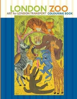 London Zoo: Art for London Transport Colouring Book (Paperback)