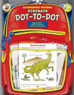 Homework Helpers Dinosaur Dot-to-dot Grades Prek - 1 (Paperback)