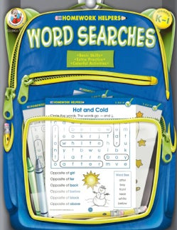 Homework Helpers Word Searches Grades K-1 (Paperback)
