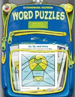 Homework Helpers Word Puzzles Grades K - 1 (Paperback)