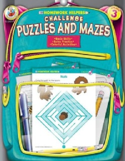 Homework Helpers Challenge Puzzles and Mazes Grade 3 (Paperback)