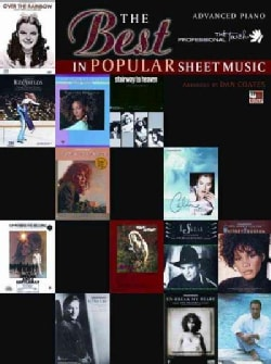 The Best in Popular Sheet Music: Advanced Piano (Paperback)