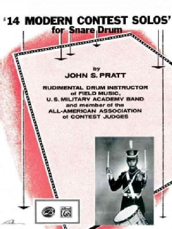 14 Modern Contest Solos for Snare Drum (Paperback)